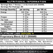 Platinum Labs Defcon1 Supplement Facts