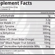 Dynamik Muscle Savage Roar Supplement Facts