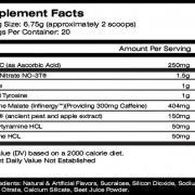 MTS Nutrition Ruckus Supplement Facts