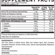 API BCAA Trainer Supplement Facts Australia