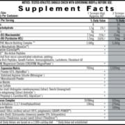 iSatori Pre Gro Max Supplement Facts