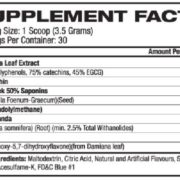 Blackstone Labs Epi Test Supplement Facts
